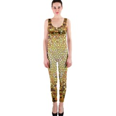 Yellow And Black Stained Glass Effect Onepiece Catsuit