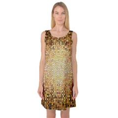 Yellow And Black Stained Glass Effect Sleeveless Satin Nightdress