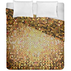 Yellow And Black Stained Glass Effect Duvet Cover Double Side (california King Size)
