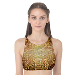 Yellow And Black Stained Glass Effect Tank Bikini Top