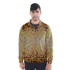 Yellow And Black Stained Glass Effect Wind Breaker (men)