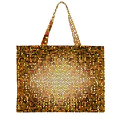 Yellow And Black Stained Glass Effect Large Tote Bag