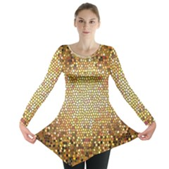 Yellow And Black Stained Glass Effect Long Sleeve Tunic