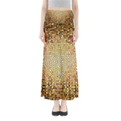 Yellow And Black Stained Glass Effect Maxi Skirts