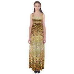 Yellow And Black Stained Glass Effect Empire Waist Maxi Dress