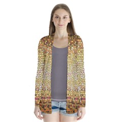 Yellow And Black Stained Glass Effect Cardigans