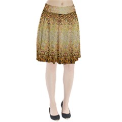 Yellow And Black Stained Glass Effect Pleated Skirt