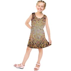 Yellow And Black Stained Glass Effect Kids  Tunic Dress