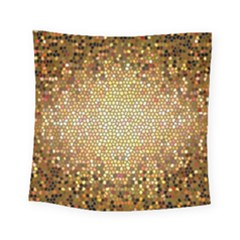 Yellow And Black Stained Glass Effect Square Tapestry (small)