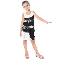 Boykin Spaniel Name Silo Black Kids  Sleeveless Dress