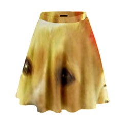 Portuguese Podengo High Waist Skirt