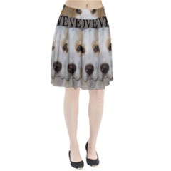 Beagle  Tan And White Love Pic Pleated Skirt