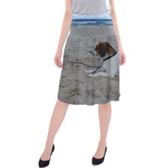 Beagle On Beach Midi Beach Skirt