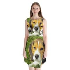 Beagle Puppy Sleeveless Chiffon Dress