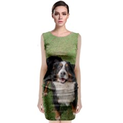 Bernese Mountain Dog Full Classic Sleeveless Midi Dress