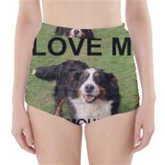 Bernese Mountain Dog Love W Pic High-Waisted Bikini Bottoms
