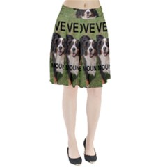 Bernese Mountain Dog Love W Pic Pleated Skirt
