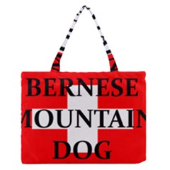 Ber Mt Dog Name Switzerland Flag Medium Zipper Tote Bag