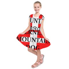 Ber Mt Dog Name Switzerland Flag Kids  Short Sleeve Dress