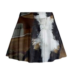 Bernese Mountain Dog Puppy Mini Flare Skirt