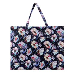 Filtered Anemones  Zipper Large Tote Bag