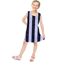 STR1 BK-WH MARBLE Kids  Tunic Dress