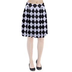 SQR2 BK-WH MARBLE Pleated Skirt