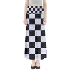 SQR1 BK-WH MARBLE Maxi Skirts