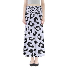SKN5 BK-WH MARBLE Maxi Skirts