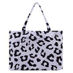 SKN5 BK-WH MARBLE Medium Zipper Tote Bag
