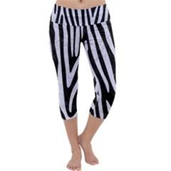 SKN4 BK-WH MARBLE (R) Capri Yoga Leggings