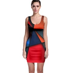 3d And Abstract Sleeveless Bodycon Dress