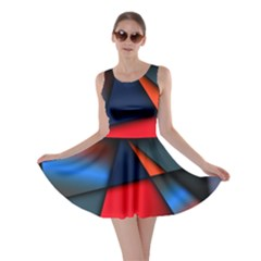 3d And Abstract Skater Dress