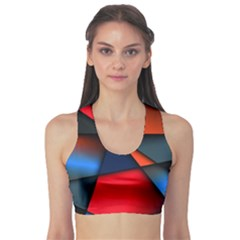 3d And Abstract Sports Bra