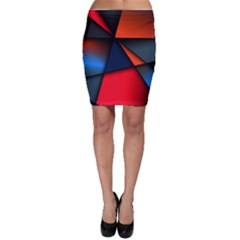 3d And Abstract Bodycon Skirt