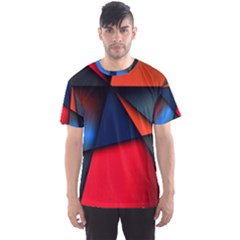 3d And Abstract Men s Sport Mesh Tee