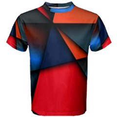 3d And Abstract Men s Cotton Tee