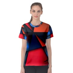 3d And Abstract Women s Sport Mesh Tee