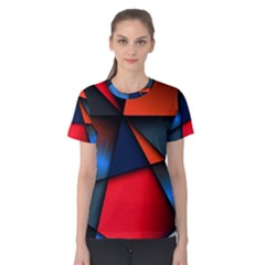 3d And Abstract Women s Cotton Tee