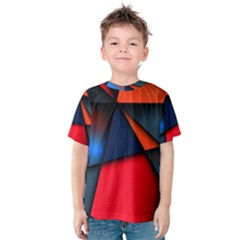 3d And Abstract Kids  Cotton Tee