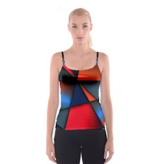 3d And Abstract Spaghetti Strap Top