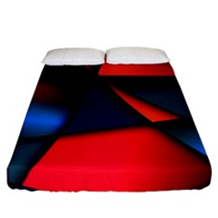3d And Abstract Fitted Sheet (California King Size)