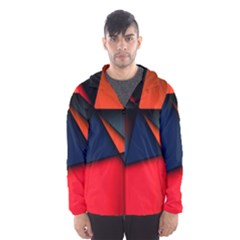 3d And Abstract Hooded Wind Breaker (Men)