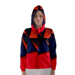 3d And Abstract Hooded Wind Breaker (Women)