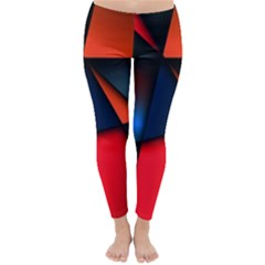 3d And Abstract Classic Winter Leggings