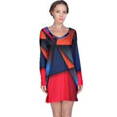 3d And Abstract Long Sleeve Nightdress