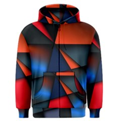 3d And Abstract Men s Zipper Hoodie
