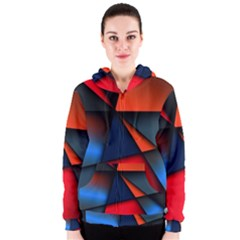 3d And Abstract Women s Zipper Hoodie