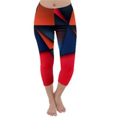 3d And Abstract Capri Winter Leggings
