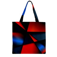 3d And Abstract Zipper Grocery Tote Bag